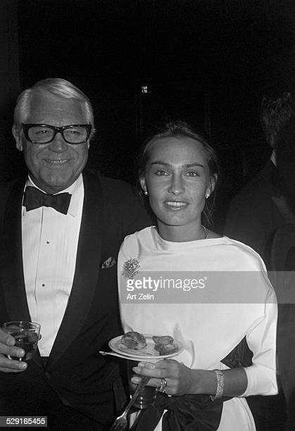 Jennifer Grant with Cary Grant at a formal event circa 1970 New York