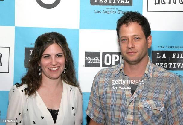 Jennifer Grausman and Mark Becker attend the 2008 Los Angeles Film Festival's 'Pressure Cooker' Screening on June 24 2008 at The Landmark Auditorium...