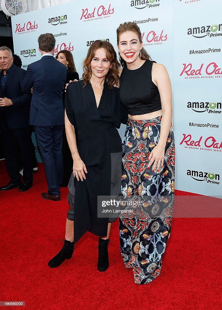 Jennifer Grey and Alexandra Turshen attend 'Red Oaks' series premiere at Ziegfeld Theater on September 29, 2015 in New York City.