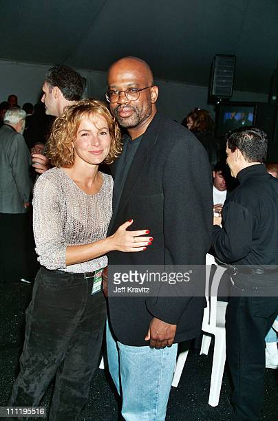 Jennifer Grey and Christopher Darden during HBO's 7th Annual Comic Relief