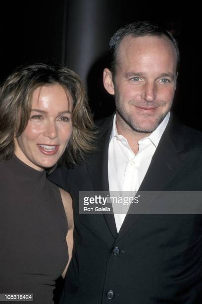 Jennifer Grey and Clark Gregg during State and Main Los Angeles Premiere at Directors Guild Theater in Hollywood California United States