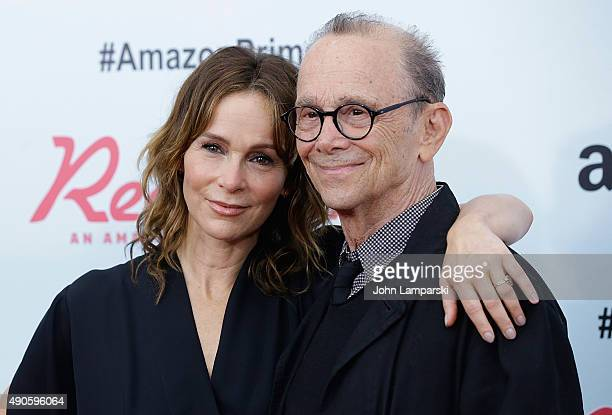 Jennifer Grey and Joel Grey attend Red Oaks series premiere at Ziegfeld Theater on September 29 2015 in New York City