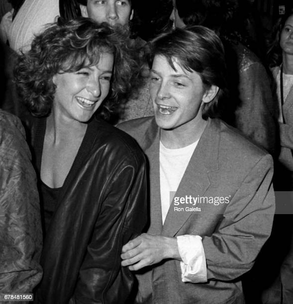 Jennifer Grey and Michael J Fox attend Pretty In Pink Premiere on January 29 1986 at Mann Chinese Theater in Beverly Hills California
