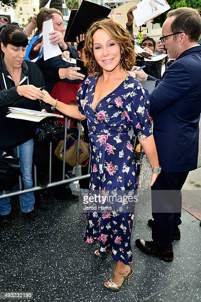Jennifer Grey arrives at the Los Angeles Premiere of 'Trust Me' at the Egyptian Theatre on May 22 2014 in Hollywood California
