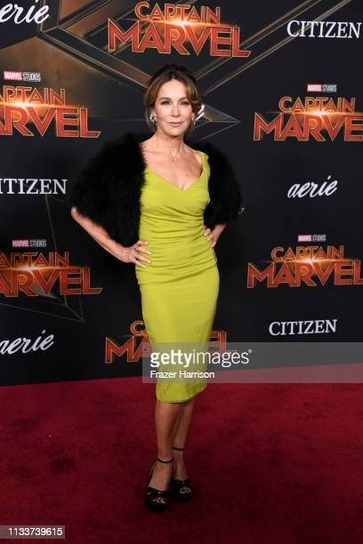 """Jennifer Grey attends Marvel Studios """"Captain Marvel"""" Premiere on March 04, 2019 in Hollywood, California."""