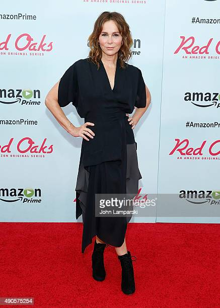 Jennifer Grey attends 'Red Oaks' series premiere at Ziegfeld Theater on September 29 2015 in New York City