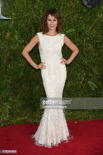 Jennifer Grey attends the 2015 Tony Awards at Radio City Music Hall on June 7 2015 in New York City