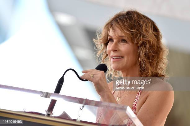 Jennifer Grey attends the ceremony honoring Kenny Ortega with Star on the Hollywood Walk of Fame on July 24 2019 in Hollywood California