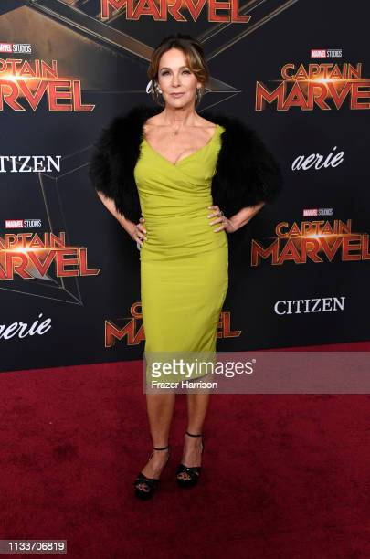 Jennifer Grey attends the Marvel Studios Captain Marvel premiere on March 04 2019 in Hollywood California