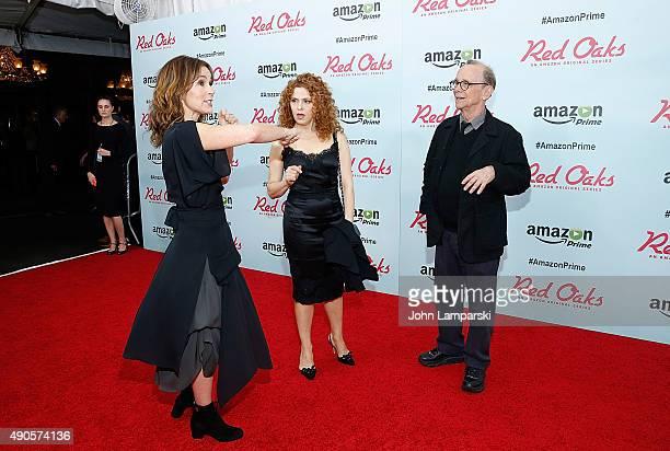 Jennifer Grey Bernadette Peters and Joel Grey attend Red Oaks series premiere at Ziegfeld Theater on September 29 2015 in New York City