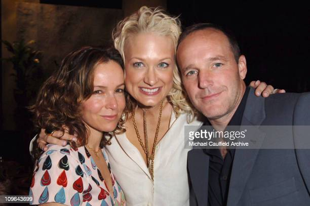 Jennifer Grey Nancy Jarecki and Clark Gregg during 5th Annual Project ALS Benefit Gala Honoring Ben Stiller Backstage at Century Plaza Hotel in Los...
