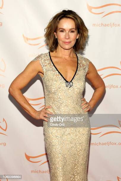 Jennifer Grey on the red carpet of A Funny Thing Happened On The Way To Cure Parkinson's benefitting The Michael J Fox Foundation at the Hilton New...