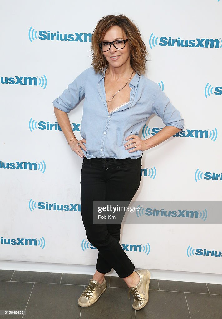 Jennifer Grey visits at SiriusXM Studio on October 19, 2016 in New York City.