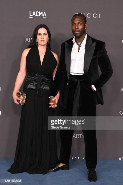 Jennifer Guidi and guest attend the 2019 LACMA Art Film Gala Presented By Gucci at LACMA on November 02 2019 in Los Angeles California
