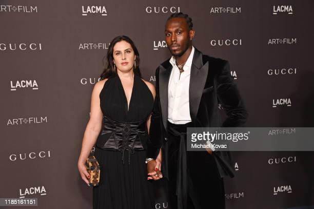 Jennifer Guidi and guest attends the 2019 LACMA Art Film Gala Presented By Gucci at LACMA on November 02 2019 in Los Angeles California