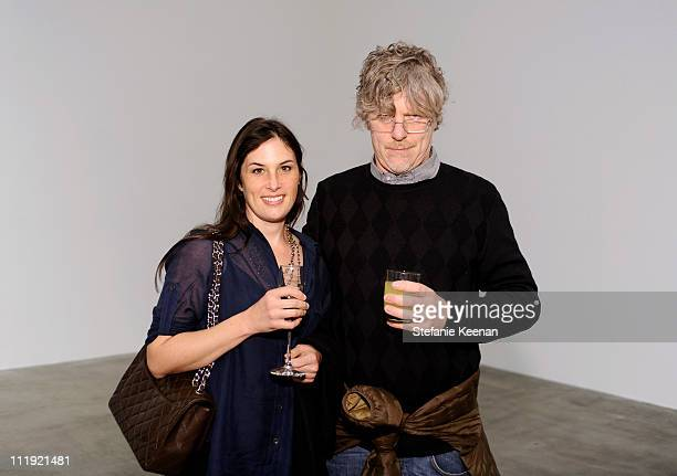 Jennifer Guidi and Mark Grotjahn attend Florian MaierAichen At Blume Poe Private Preview And Dinner on April 8 2011 in Los Angeles California