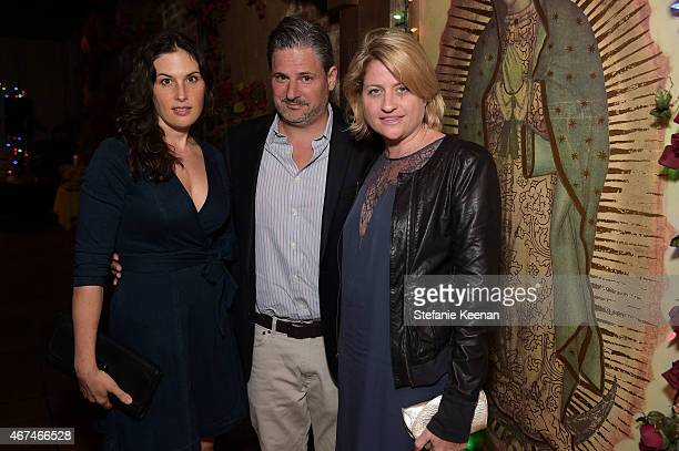 Jennifer Guidi Harty Ophuls and Sarah Watson attend The LAXART UNGALA Presented By Phillips on March 24 2015 in Los Angeles California