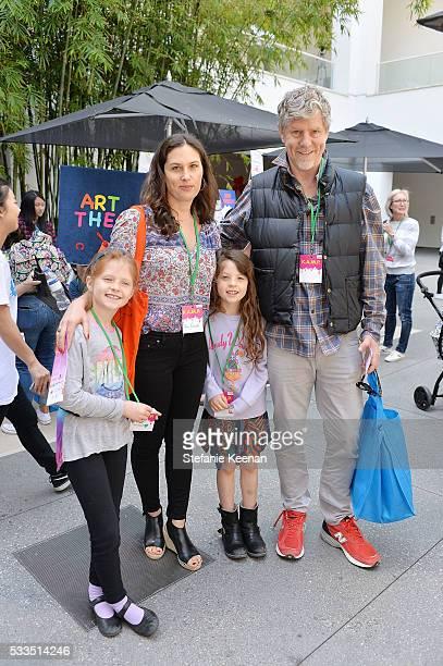 Jennifer Guidi Mark Grotjahn and children attend Hammer Museum KAMP 2016 on May 22 2016 in Los Angeles California
