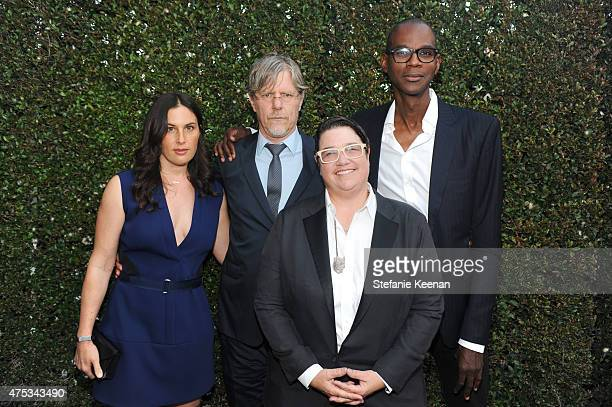 Jennifer Guidi Mark Grotjahn artist Catherine Opie and Mark Bradford attend the 2015 MOCA Gala presented by Louis Vuitton at The Geffen Contemporary...
