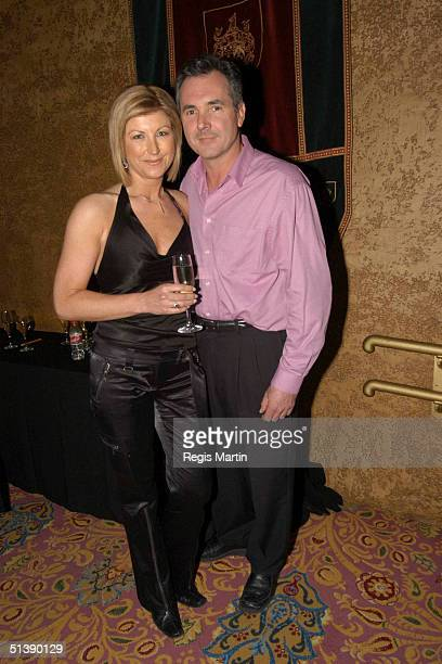Jennifer Hansen and husband Alan Fletcher at the opening of the musical 'We Will Rock You' at the Regent theatre in Melbourne Victoria Australia