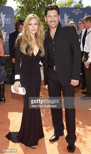 Jennifer Hanson and husband Mark Nessler during 38th Annual Academy of Country Music Awards Arrivals at Mandalay Bay Event Center in Las Vegas Nevada...