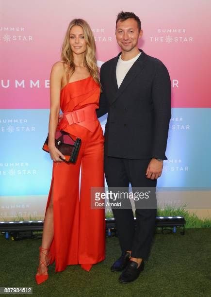 Jennifer Hawkins and Ian Thorpe attend the Summer The Star Official Launch at The Star on December 8 2017 in Sydney Australia