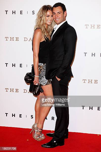 Jennifer Hawkins and Jake Wall arrive at The Star Opening Party on October 25 2011 in Sydney Australia