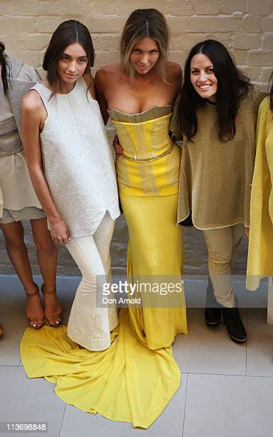 Jennifer Hawkins and Kim Ellery pose after the Ellery show during Rosemount Australian Fashion Week Spring/Summer 2011/12 at the White Rabbit Gallery...