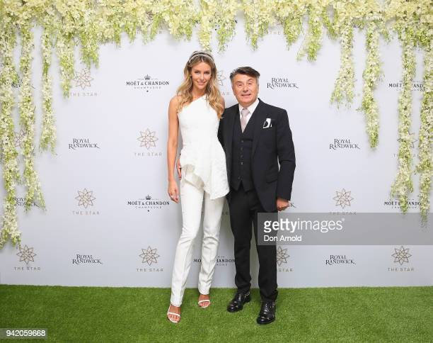 Jennifer Hawkins and Nic Cerrone attend The Star Doncaster Mile Luncheon at The Star on April 5 2018 in Sydney Australia