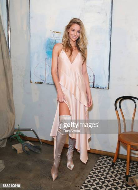 Jennifer Hawkins arrives ahead of the Acler X Myer lunch at No 1 Bent Street on May 16 2017 in Sydney Australia