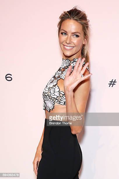 Jennifer Hawkins arrives ahead of the Myer Spring 16 Fashion Launch at Hordern Pavilion on August 23 2016 in Sydney Australia