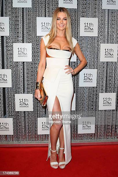Jennifer Hawkins arrives at the 11th Annual ASTRA Awards at The Sydney Theratre on July 25 2013 in Sydney Australia
