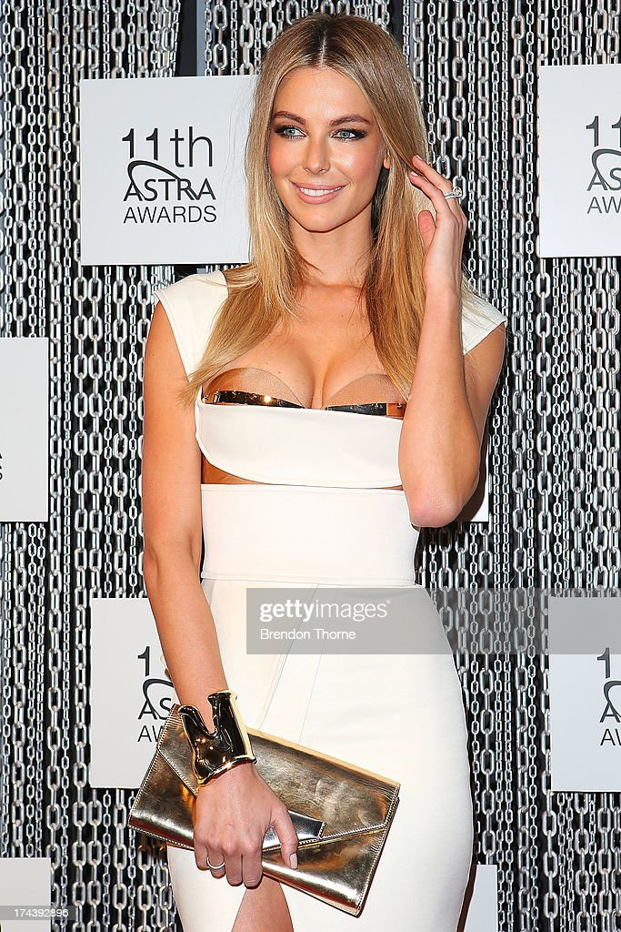 Jennifer Hawkins arrives at the 11th Annual ASTRA Awards at the Sydney Theatre on July 25, 2013 in Sydney, Australia.