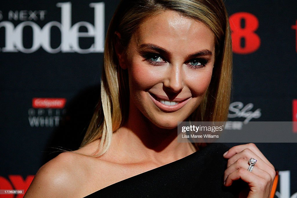 Jennifer Hawkins arrives at the launch of Australia's Next Top Model Season 8 at Doltone House on July 4, 2013 in Sydney, Australia.