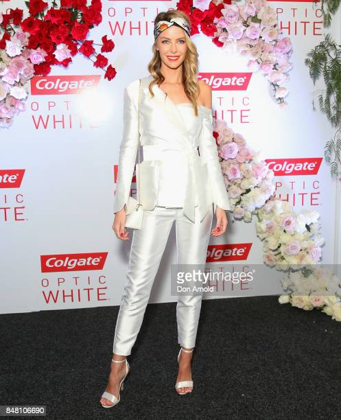 Jennifer Hawkins attends Colgate Optic White Stakes Day at Royal Randwick Racecourse on September 16 2017 in Sydney Australia