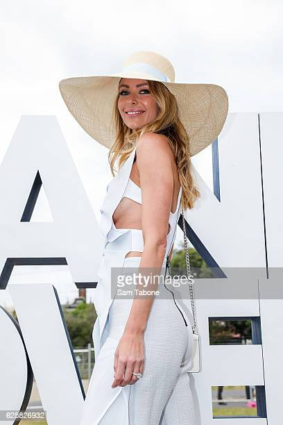 Jennifer Hawkins attends the Land Rover marquee at Land Rover Polo in The City at Albert Park on November 26 2016 in Melbourne Australia