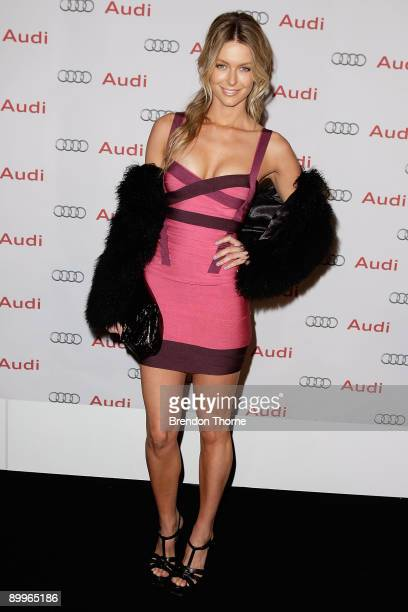 Jennifer Hawkins attends the launch of the new Audi lightHouse showroom south dowling Street on August 20 2009 in Sydney Australia