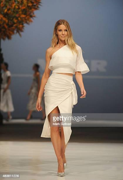 Jennifer Hawkins models Maticevski during the Myer Spring 2015 Fashion Launch on August 13 2015 in Sydney Australia