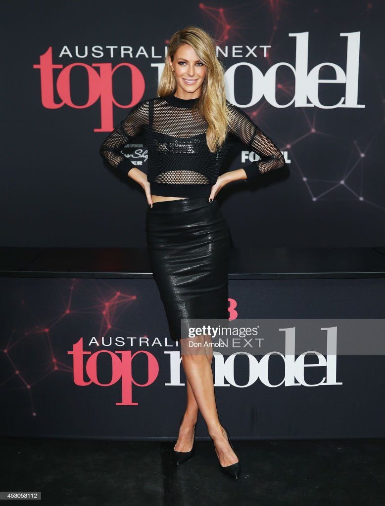 Jennifer Hawkins poses at Australia's Next Top Model auditions at Chatswood Chase Shopping Centre on August 2, 2014 in Sydney, Australia.