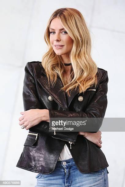 Jennifer Hawkins poses at Australia's Next Top Model Season 10 auditions at The Deakin Edge on September 30 2015 in Melbourne Australia