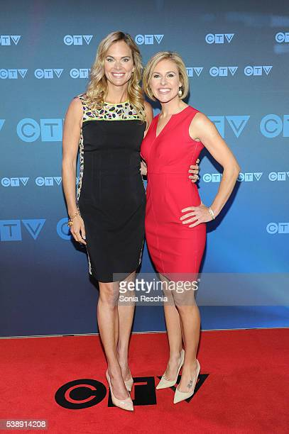 Jennifer Hedger and Tessa Bonhomme attend CTV Upfronts 2016 at Sony Centre for the Performing Arts on June 8 2016 in Toronto Canada