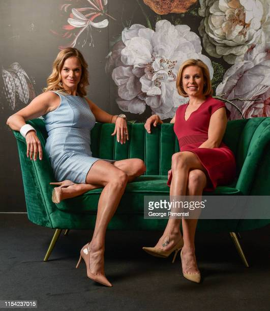 Jennifer Hedger and Tessa Bonhomme pose at the CTV Upfront Portrait Studio at Sony Centre For Performing Arts on June 06 2019 in Toronto Canada