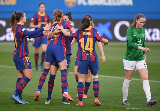 ESP: FC Barcelona v Fortuna Hjorring  - Women's UEFA Champions League Round Of 16 Leg One