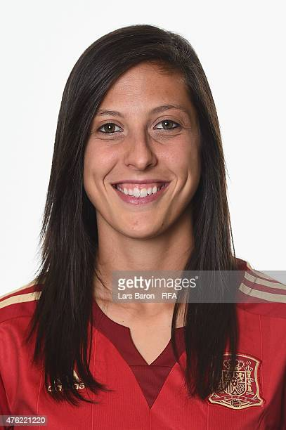 Jennifer Hermoso of Spain poses during the FIFA Women's World Cup 2015 portrait session at Sheraton Le Centre on June 6 2015 in Montreal Canada