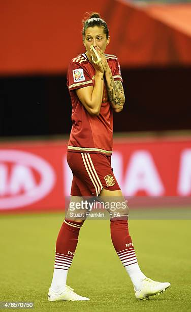Jennifer Hermoso of Spain reacts during the FIFA Women's World Cup 2015 group E match between Spain and Costa Rica at Olympic Stadium on June 9 2015...