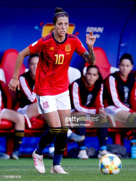 Jennifer Hermoso of Spain Women during the World Cup Women match between Germany v Spain at the Stade du Hainaut on June 12 2019 in Valenciennes...
