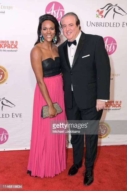 Jennifer Hoffman and Nick Vallelonga attend the 145th Kentucky Derby Unbridled Eve Gala at The Galt House Hotel Suites Grand Ballroom on May 03 2019...