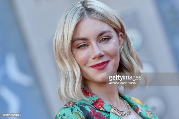 """Jennifer Holland attends Warner Bros. Premiere of """"The Suicide Squad"""" at The Landmark Westwood on August 02, 2021 in Los Angeles, California."""
