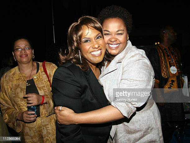Jennifer Holliday and Jill Scott during Coca Cola Presents the 2006 Essence Music Festival Day 3 at Reliant Park in Houston Texas United States