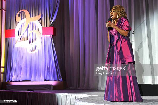 Jennifer Holliday performs at the Thurgood Marshall College Fund 25th Awards Gala on November 11 2013 in Washington City